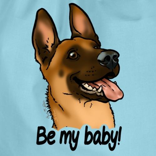 Be my baby berger malinois (texte noir) - Sac de sport léger