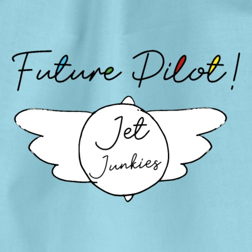 Jet Junkies Future Pilot Design - Drawstring Bag