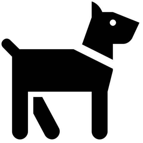 chien noir - Sacca sportiva