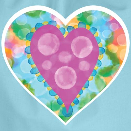 Heart Bubbles make you float - Drawstring Bag