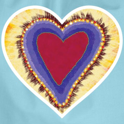 Red heart passion Symbol - Drawstring Bag