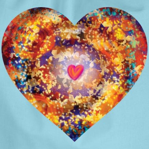 A small big heart of love - Drawstring Bag