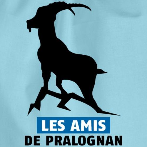 Logo Les Amis de Pralo grand noir bouquetin - Sac de sport léger