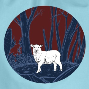 Sheep in the forest - Drawstring Bag