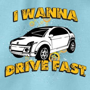I wanna drive fast small ugly car - Drawstring Bag