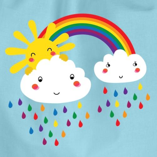 Regenbogen bunte Tropfen - Turnbeutel