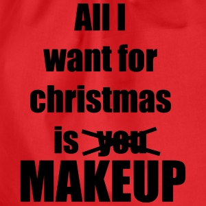 Christmas song award makeup makeup - Drawstring Bag