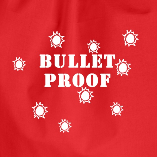 Bullet Proof White - Drawstring Bag