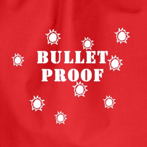 Bullet Proof White - Drawstring Bag