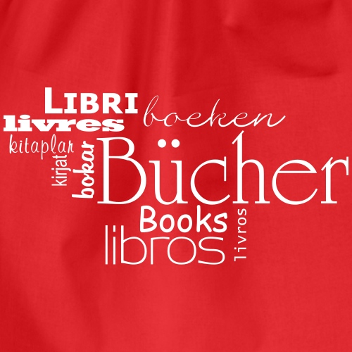 Bücher in verschiedenen Sprachen - Turnbeutel