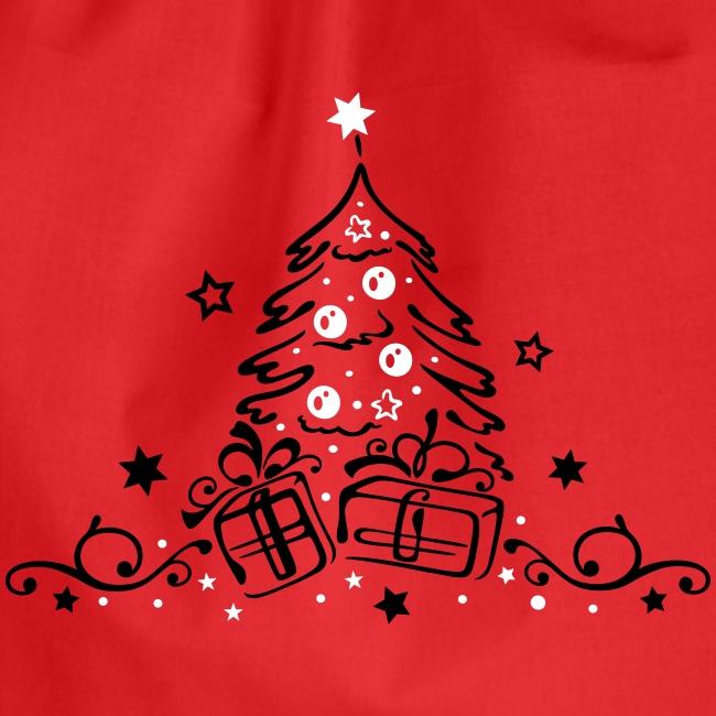 Weihnachten Tannenbaum Weihnachtsbaum Geschenke Turnbeutel