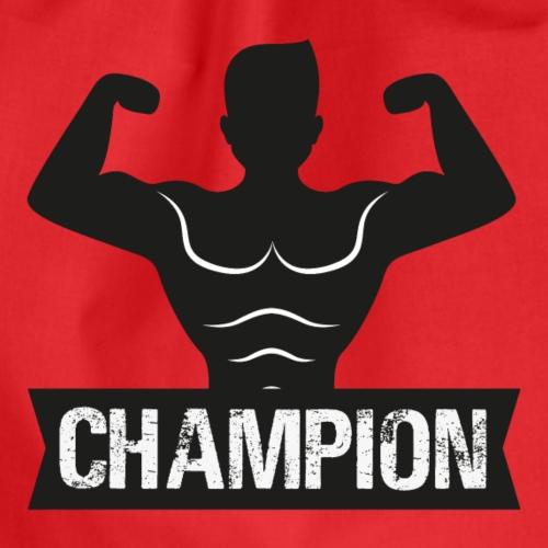tshirt salle sport humour champion - Sac de sport léger