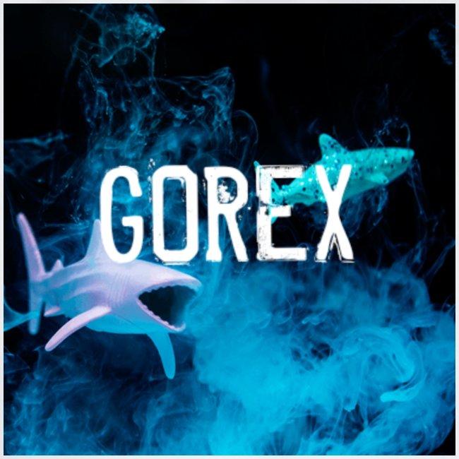 Logo GOREX con gli squali