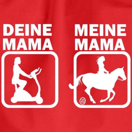 Deine Mama & meine Mama beim Reiten - Turnbeutel