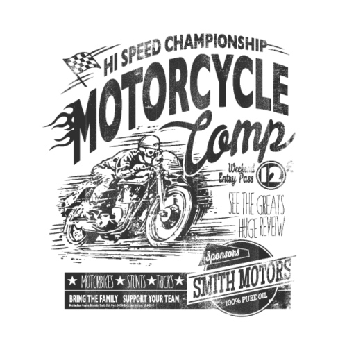 Motorcycle Camp - Drawstring Bag