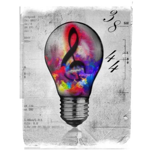 Neon Smoke Music Note - Drawstring Bag