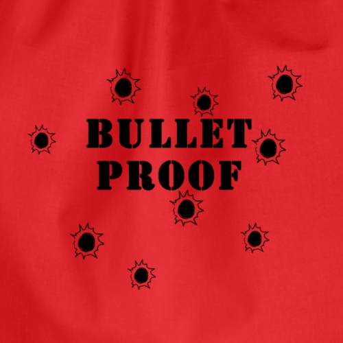 Bullet Proof Black - Drawstring Bag