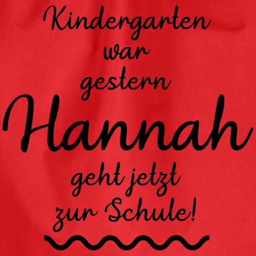 Kindergarten war gestern (Hannah) - Turnbeutel