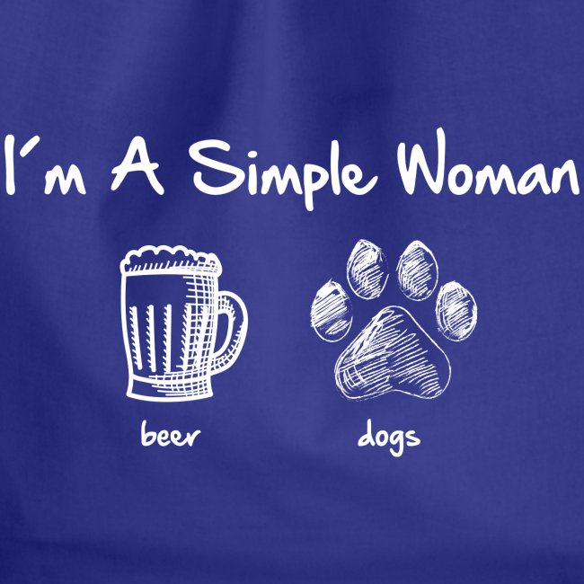 Vorschau: simple woman beer white - Turnbeutel