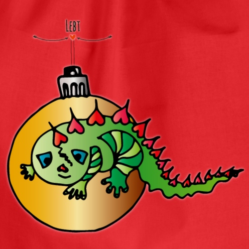 Weihnachtseidechse - Turnbeutel