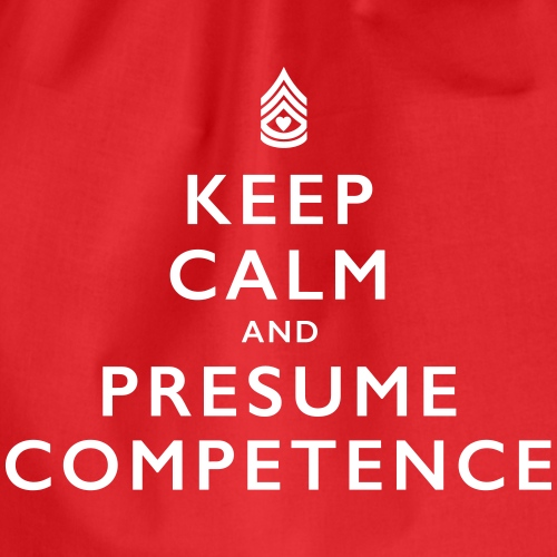 Presume Competence - Drawstring Bag