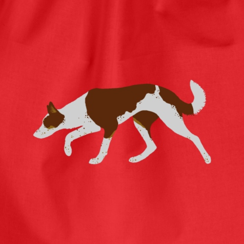 Border Collie (Red Tri) - Drawstring Bag