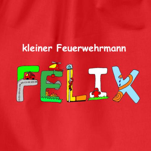 Felix tolles Feuerwehrmotiv individuell mit Namen - Turnbeutel