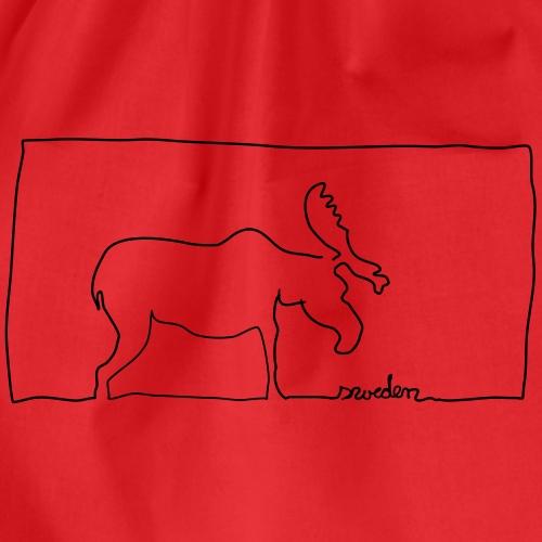 Schweden und Elche gehören zusammen - Turnbeutel