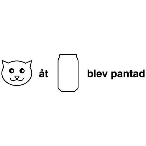 Katt åt burk - Gymnastikpåse
