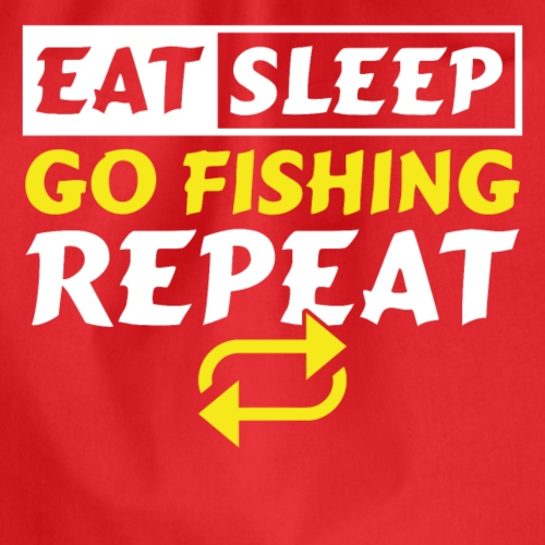 Eat Sleep go Fishing Repeat - Turnbeutel
