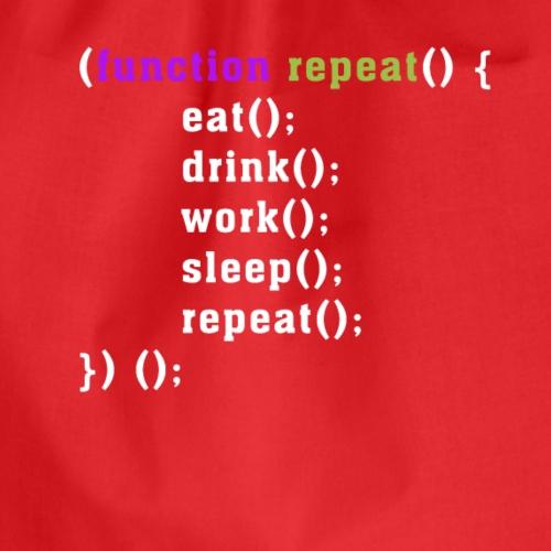 Funktio repeat - Turnbeutel