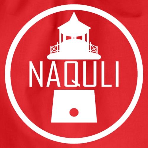 NAQULI Logo weiß - Turnbeutel