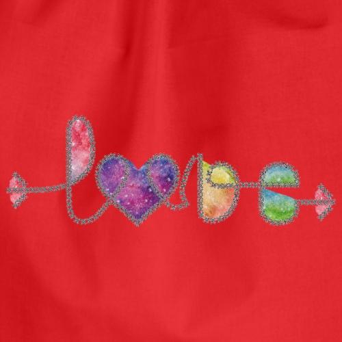 cordón de amor versión acuarela 2 - Mochila saco