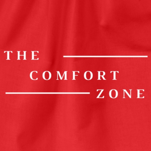 Logo wit The Comfort Zone - Gymtas