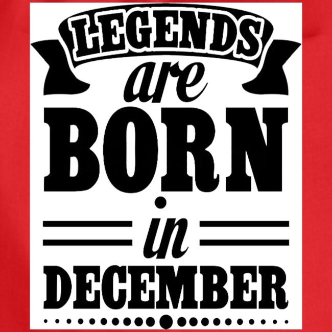 legends are born in December Black