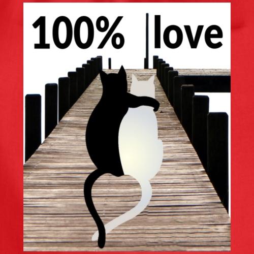 Katze 100% love - Turnbeutel