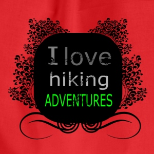 i love hiking adventures - love for hiking - Drawstring Bag