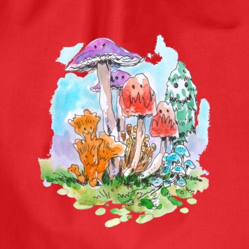 Freunde / Pilze / Spaß - Turnbeutel