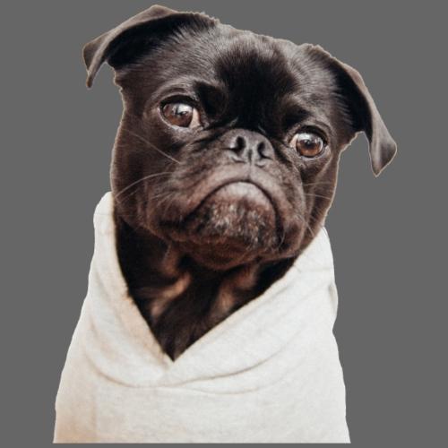DOG - pug - Drawstring Bag