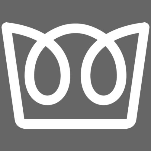 Crown - White - Drawstring Bag