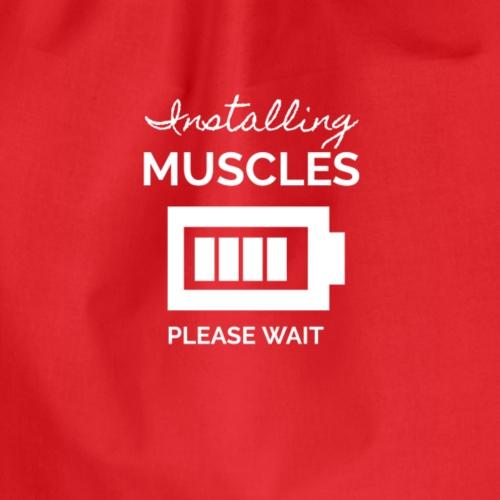 Installing Muscles - Drawstring Bag