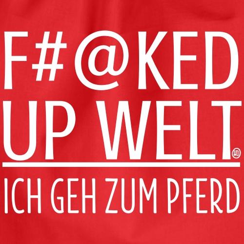 Fucked up - Pferd - Turnbeutel