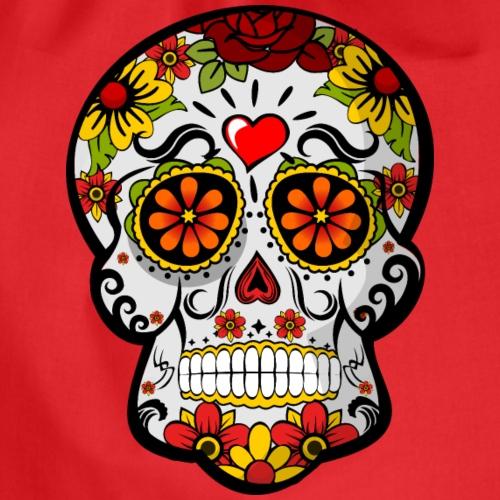 calavera mexicana corazón - Mochila saco