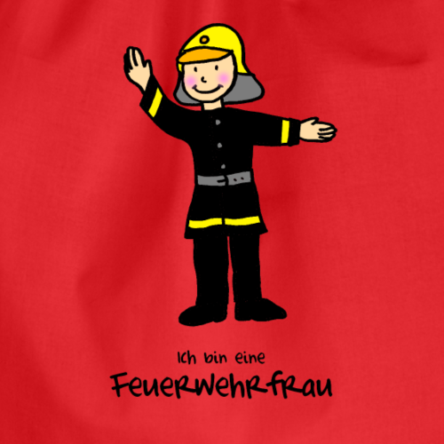 Kleine Feuerwehrfrau - Turnbeutel