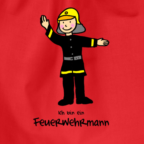 Kleiner Feuerwehrmann von Janisha Sommer - Turnbeutel