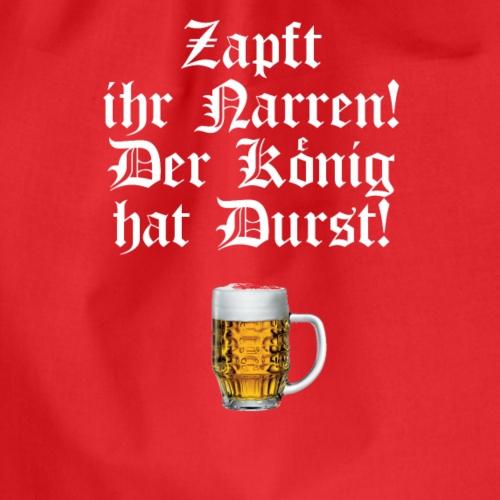 DER KÖNIG HAT DURST! - Turnbeutel