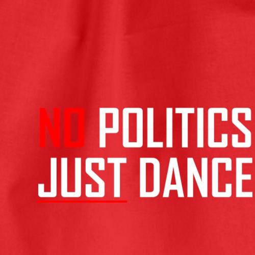 NO POLITICS JUST DANCE HVID - Sportstaske