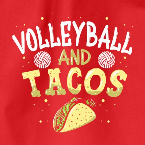 Volleyball and Tacos lustiges vintage Taco - Turnbeutel