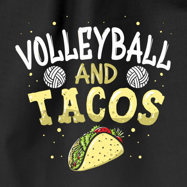 Volleyball and Tacos lustiges vintage Taco