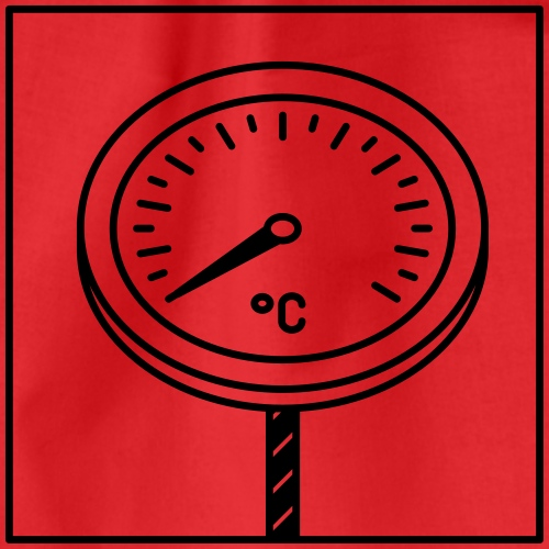 thermometer - Drawstring Bag